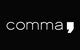 Logo: comma,