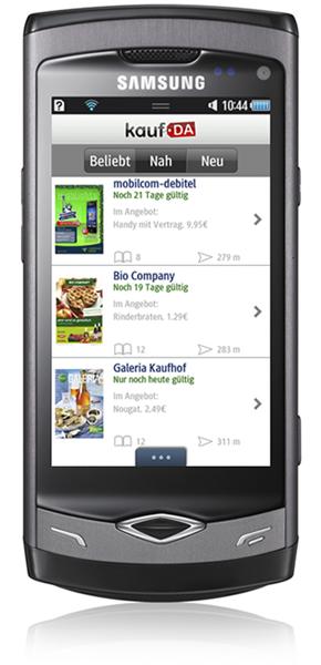 kostenlos für Samsung Bada - kaufDA Navigator